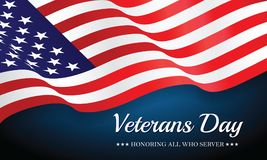 US Flag Veterans Day. Royalty Free Stock Image