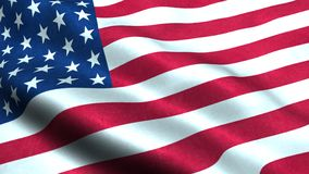 Free US Flag Waving In The Wind Isolated America USA Royalty Free Stock Image - 157940176