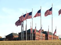 US Flag waving stock video