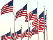 US Flag waving stock video footage