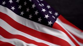US flag waving in wind on Independence Day in America. US flag waving in the wind on Independence Day in America stock video
