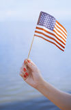 US flag waving Stock Images