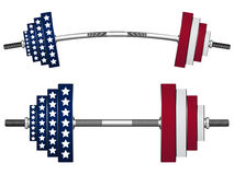 Us flag weights Stock Images