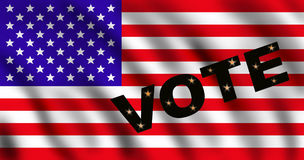 US Flag with the Word VOTE vector illustration