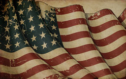 US Flag WWI-WWII 48 stars Old Paper Background Royalty Free Stock Photos