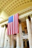US-Flagge im Verbandsstationsinnenraum, Chicago Lizenzfreies Stockbild