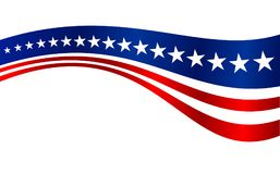 US-Flagge streift Vektor-Grafik-Hintergrund Stockfotografie