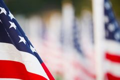 US flags Royalty Free Stock Photo