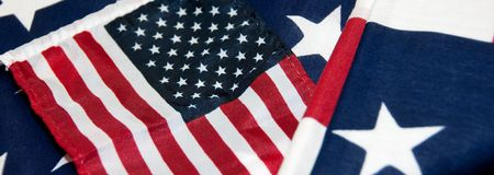 US Flags Banner Stock Images