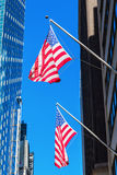 US flags in Manhattan, New York City Royalty Free Stock Photos