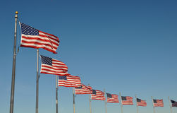 US Flags Royalty Free Stock Photography
