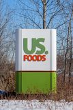 US Food Exterior and Trademark Logo Stock Image