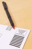 US Free Postage Envelope Royalty Free Stock Image