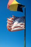 US Friendship Flag Pin - Belgium Stock Photos