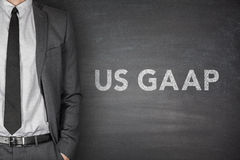 US Gaap on blackboard. Generally accepted accounting principles on black blackboard Royalty Free Stock Photos