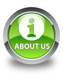About us glossy green round button Stock Photo