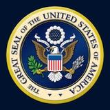 US Golden Presidential Seal. Stock Image