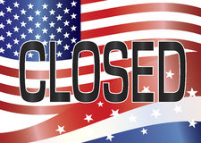 US Government Shutdown Closed Sign Illustration Stock Photography