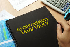 US government trade policy. US government trade policy on a table Royalty Free Stock Photography
