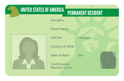 US Green Card for Immigration Stock Images