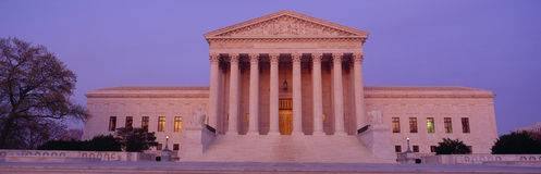 Us-högsta domstolenbyggnad, Washington, DC Arkivfoto