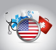 Us health insurance concept illustration design. Over a white background Royalty Free Stock Photography