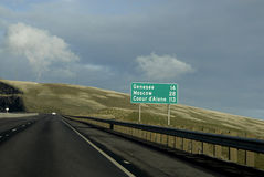 Us highway 95 and 195 Royalty Free Stock Photo