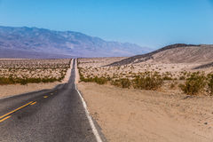 US Highway to death valley national park, California Royalty Free Stock Images