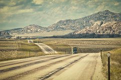 US Highway 287 In Wyoming USA Stock Images