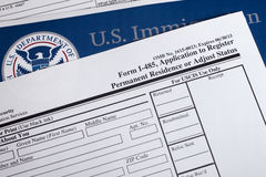 US Homeland Security Form Stock Image