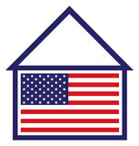 US Housing. Simple icon representing the US housing market Vector Illustration