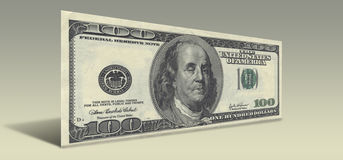 US Hundred Dollar bill Drunken Ben Franklin Stock Photography