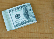 US hundred dollar bills Stock Photos