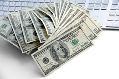 US hundred dollar bills Stock Images
