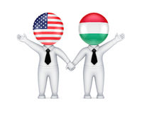 US-Hungarian cooperation concept. Stock Image