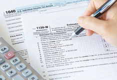 US income tax form Stock Image