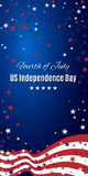 US Independence Day abstract background with American flag. Royalty Free Stock Image