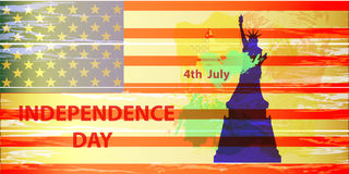 US Independence Day. Illustration,  Royalty Free Stock Photography