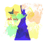 US Independence Day. Illustration,  Stock Photos