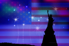 US Independence Day. Illustration,  Royalty Free Stock Image