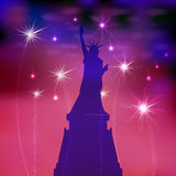 US Independence Day. Illustration,  Royalty Free Stock Images