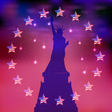 US Independence Day. Illustration,  Royalty Free Stock Photo