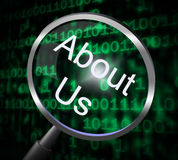 About Us Indicates Magnify Magnification And Research Stock Photography