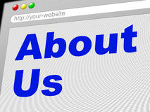 About Us Indicates World Wide Web And About-Us Stock Photography