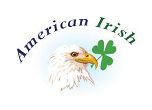 US & Irish emblems Royalty Free Stock Photo