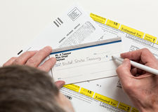 US IRS Tax form 1040-ES Royalty Free Stock Photo