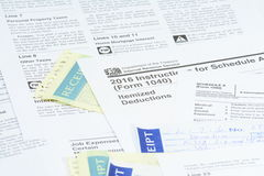 US IRS tax forms Royalty Free Stock Photography