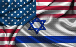 US Israel Flag Stock Photography