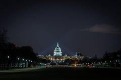 US-Kapitol-Gebäude nachts Lizenzfreies Stockbild