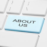 About us keyboard button Royalty Free Stock Photography
